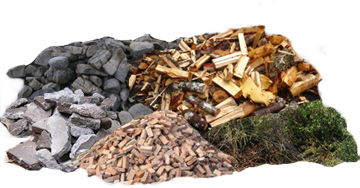 Lumber, Yard Waste, Rock, Brick and Concrete are taken to Pacific Topsoil
