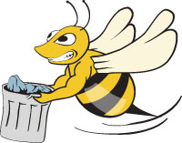 Bee Carrying Garbage